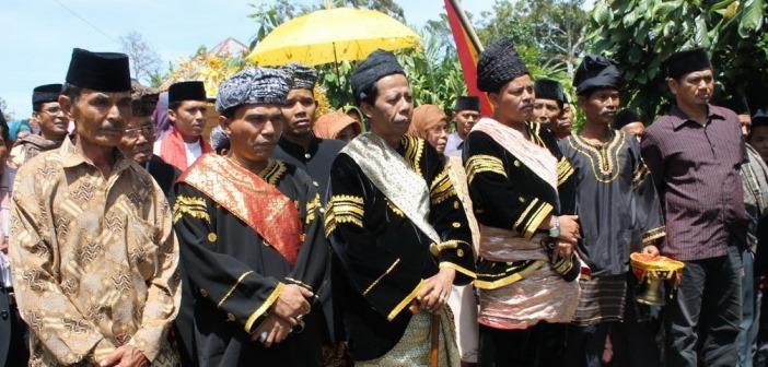 Upacara Batagak Pangulu di Minangkabau. Foto: Istimewa