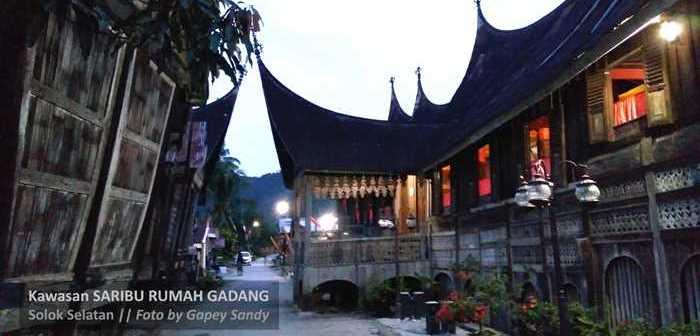 Kawasan Saribu Rumah Gadang di Solok Selatan